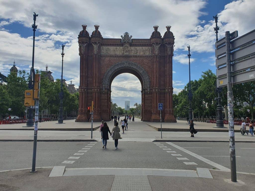 שער הניצחון של ברצלונה. צילמה: רנטה ביסמוט