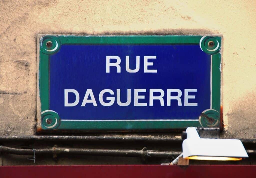 שלט רחוב Daguerre. צילום: רותי שמעוני