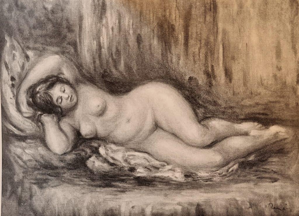 ציור של רנואר שנמכר בגלריה של אוז'ן בלו בשנת 1906