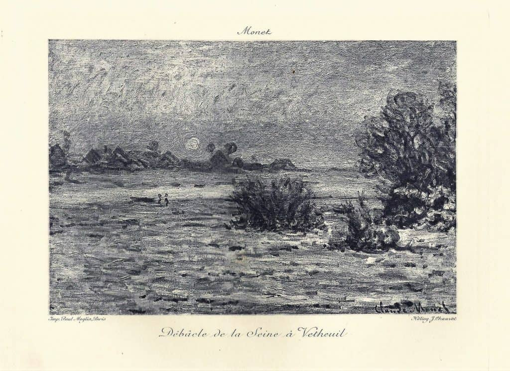 ציור שמן של קלוד מונה שנמכר בגלריה של אוז'ן. מתוך קטלוג המכירה