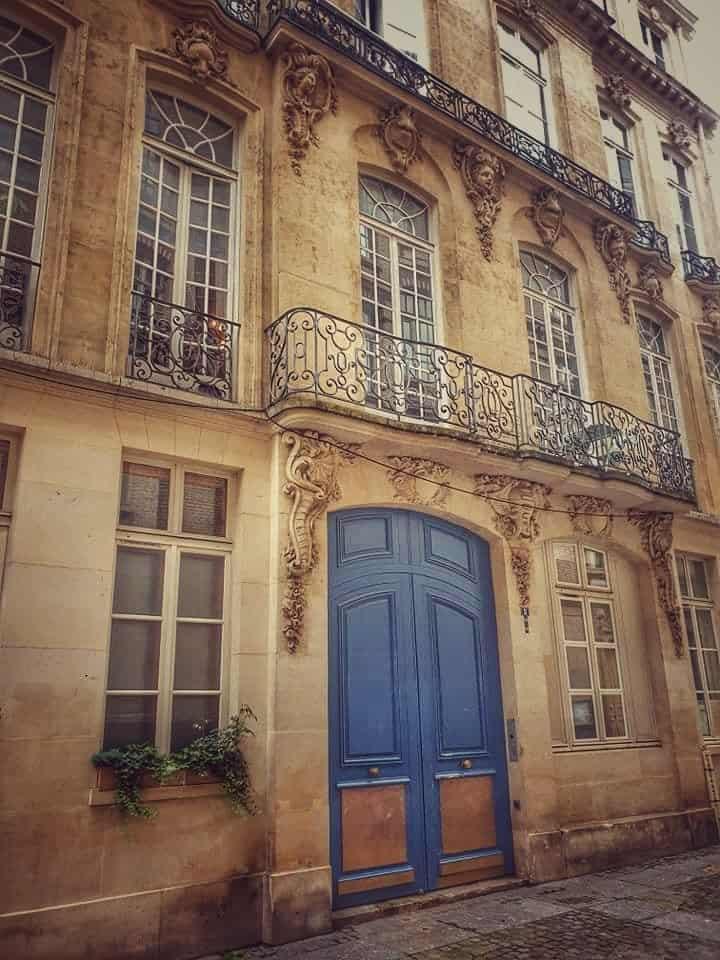הבית בפריזאי של ז'אן בקו (או מדמואזל לנז'), לעתיד מאדאם דו בארי ב Rue Jussienne 2. צילם: רן ורדי