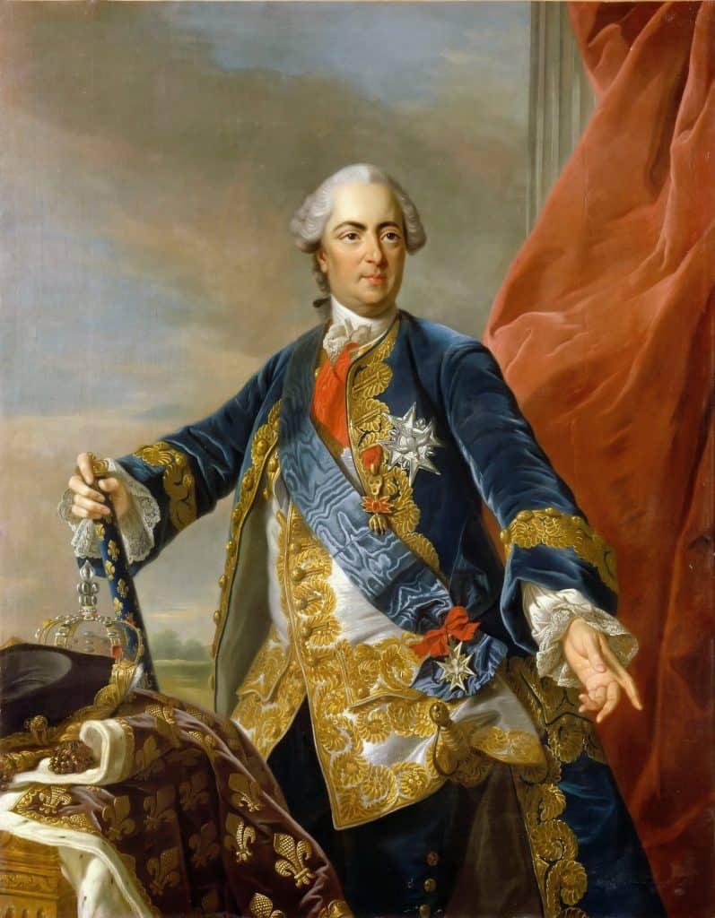 המלך לואי ה-15. דיוקן של ואן לו (Van Loo)