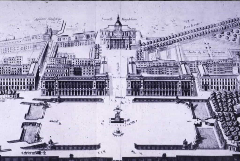 תוכניתו של ז'אק אנז' גבריאל לכיכר לואי ה-15