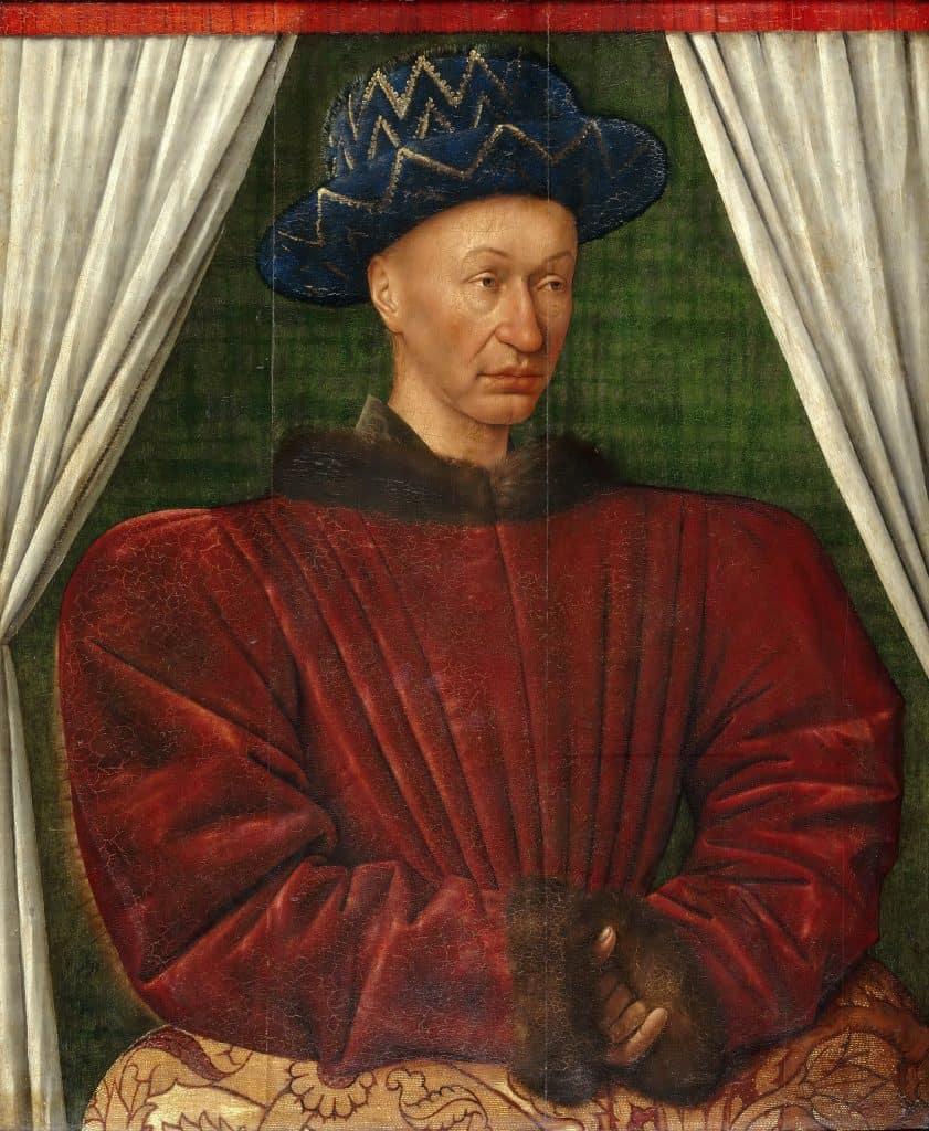 המלך שארל ה-7. דיוקן מאת ז'אן פוקה המוצג במוזיאון <a class=