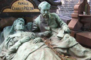 הקבר של שארל פיז'ון ואישתו. צילם: Martin Greslou