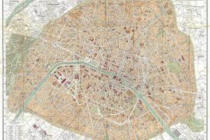 מפת פריז | הרובעים של פריז. מפה משנת 1867 שמראה את כל הרובעים החדשים. מקור תמונה: ויקיפדיה.
