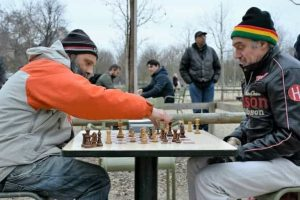 שחמט בגני לוכסמבורג - צילום: יואל תמנליס