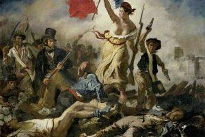 החירות מובילה את העם מאת אז'ן דלקרואה. מקור צילום: ויקיפדיה