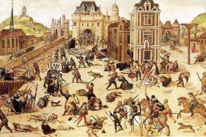 טבח ברתולומיאו הקדוש בו מצא גספאר דה קוליניי את מותו. מקור ציור ויקיפדיה.