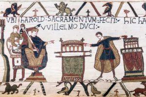 ההיסטוריה של נורמנדי. חלק מהשטיח של באיה. מקור: ויקיפדיה.