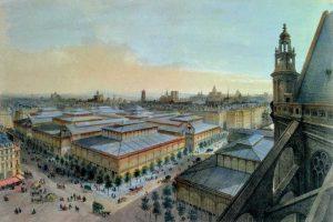 לה האל (Les Halles) מרכז הקניות הקולינארי של פריז מאת רן ורדי. מקור תמונה: ויקיפדיה.